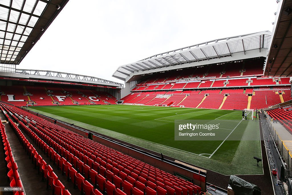 General view during the opening event of the Anfield Home of Liverpool Main Stand, at Anfield on September 9, 2016 in Liverpool, England.