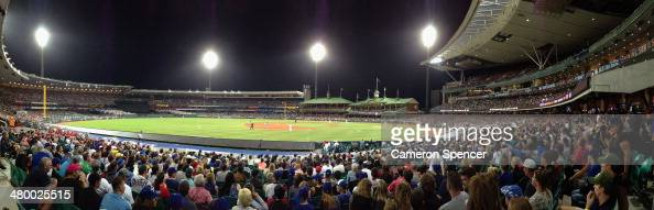 A general view during the opening match of the MLB season between the Los Angeles Dodgers and the Arizona Diamondbacks at Sydney Cricket Ground on...