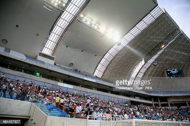 A general view during the opening of the brand new Dunas Arena during the 2014 FIFA World Cup Host City Tour on January 22 2014 in Natal Brazil
