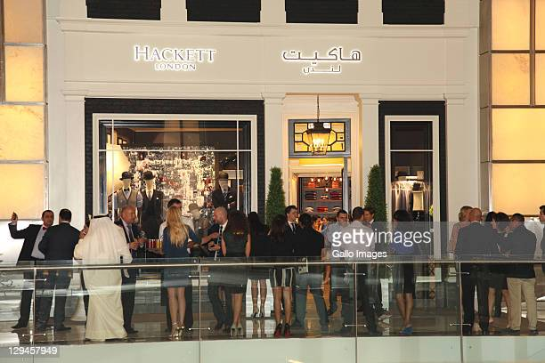 General view during the opening of the first flagship Hackett London store at Dubai Mall on October 16 2011 in Dubai United Arab Emirates
