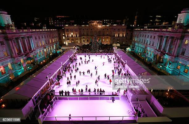 A general view during the opening party of Skate at Somerset House with Fortnum Mason on November 16 2016 in London England London's favourite...