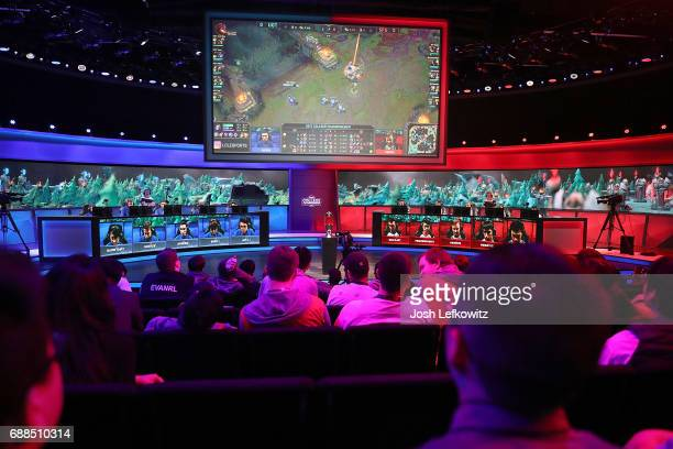 A general view during the opening round at the League of Legends College Championship on May 25 2017 in Santa Monica California