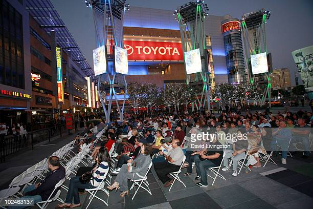 A general view during the outdoor screening of 'Back to the Future' during the 2010 Los Angeles Film Festival at Nokia Plaza LA LIVE on June 26 2010...