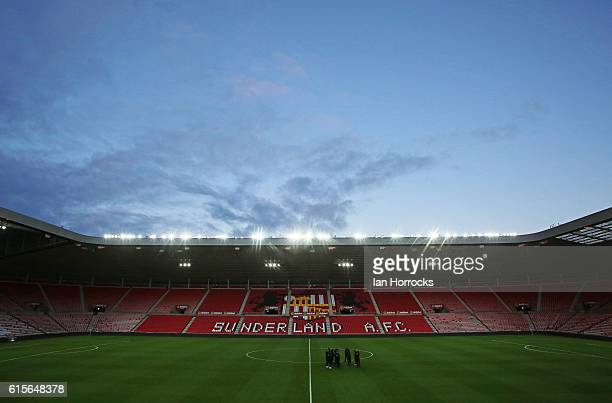 A general view during the Premier League 2 match between Sunderland U23 and Derby County U23 at the Stadium of Light on October 19 2016 in Sunderland...