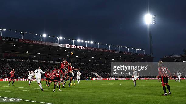 A general view during the Premier League match between AFC Bournemouth and Watford at Vitality Stadium on January 21 2017 in Bournemouth England