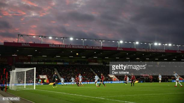 A general view during the Premier League match between AFC Bournemouth and Huddersfield Town at Vitality Stadium on November 18 2017 in Bournemouth...