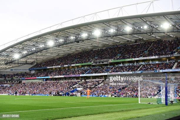 General view during the Premier League match between Brighton and Hove Albion and Newcastle United at Amex Stadium on September 24 2017 in Brighton...