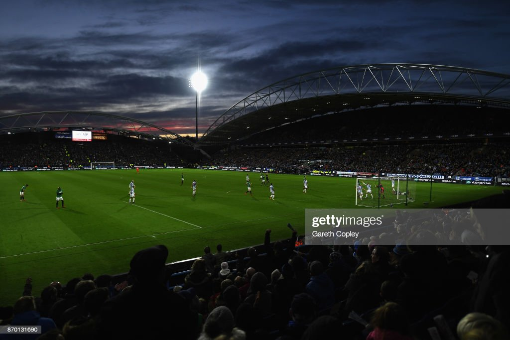 A general view during the Premier League match between Huddersfield Town and West Bromwich Albion at John Smith's Stadium on November 4, 2017 in Huddersfield, England.