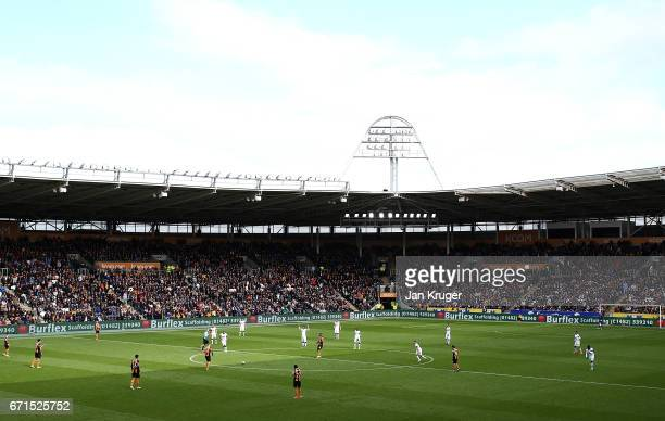 General view during the Premier League match between Hull City and Watford at KCOM Stadium on April 22 2017 in Hull England