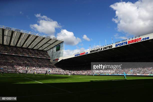 General View during the Premier League match between Newcastle United and Tottenham Hotspur at St James' Park on August 13 2017 in Newcastle upon...