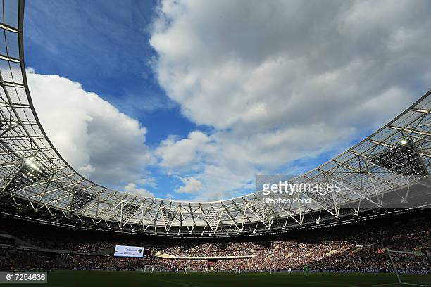 A general view during the Premier League match between West Ham United and Sunderland at Olympic Stadium on October 22 2016 in London England