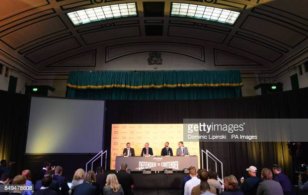 A general view during the press conference at York Hall London