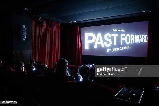 A general view during the press screening of 'Past Forward' a movie by David O Russell presented by Prada on November 16 2016 in Berlin Germany
