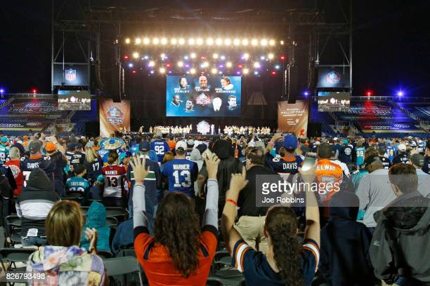 General view during the Pro Football Hall of Fame Enshrinement Ceremony at Tom Benson Hall of Fame Stadium on August 5 2017 in Canton Ohio