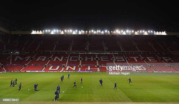 A general view during the PSV Eindhoven training session at Old Trafford on November 24 2015 in Manchester England