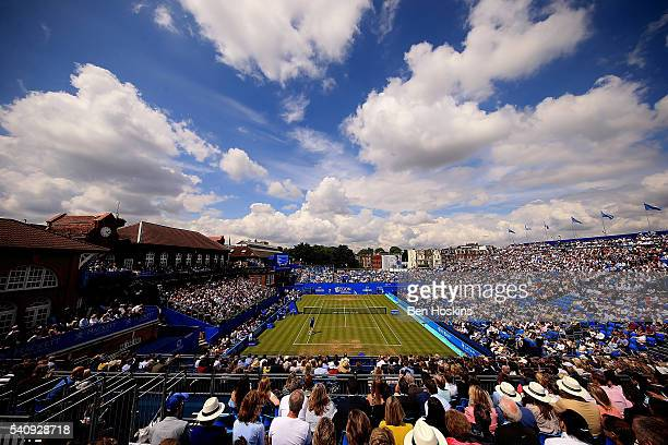 A general view during the quarer final match between Andy Murray and Kyle Edmund of Great Britain on day five of The Aegon Championships at The...