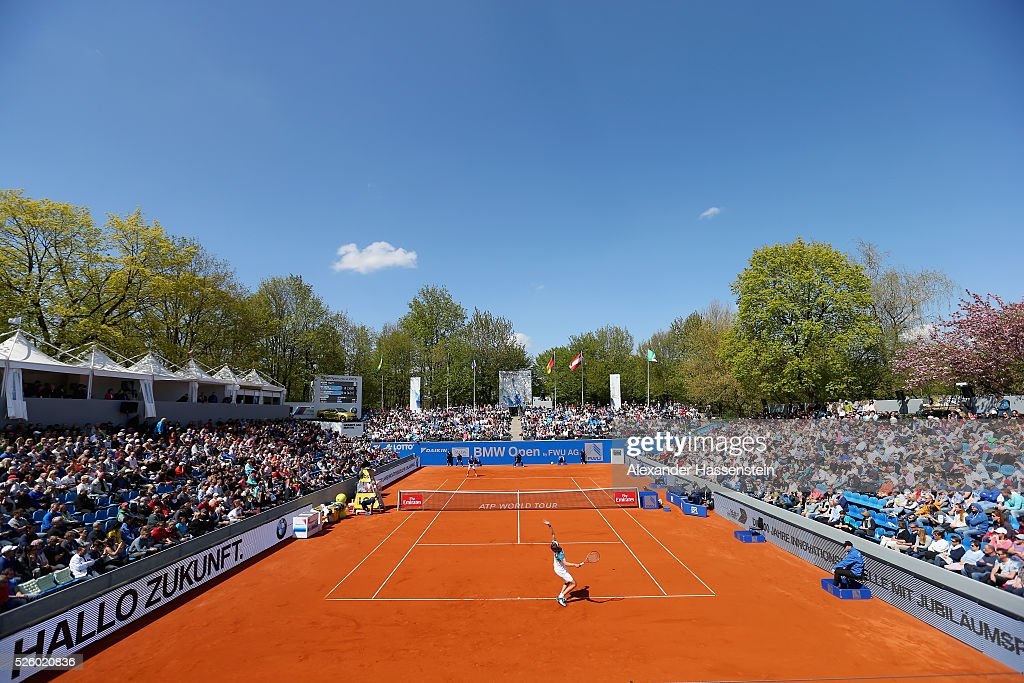 General view during the quarter finale match between <a gi-track='captionPersonalityLinkClicked' href=/galleries/search?phrase=Alexander+Zverev+-+Tennisser&family=editorial&specificpeople=11367343 ng-click='$event.stopPropagation()'>Alexander Zverev</a> of Germany and <a gi-track='captionPersonalityLinkClicked' href=/galleries/search?phrase=David+Goffin&family=editorial&specificpeople=2291768 ng-click='$event.stopPropagation()'>David Goffin</a> of Belgium of the BMW Open at Iphitos tennis club on April 29, 2016 in Munich, Germany.