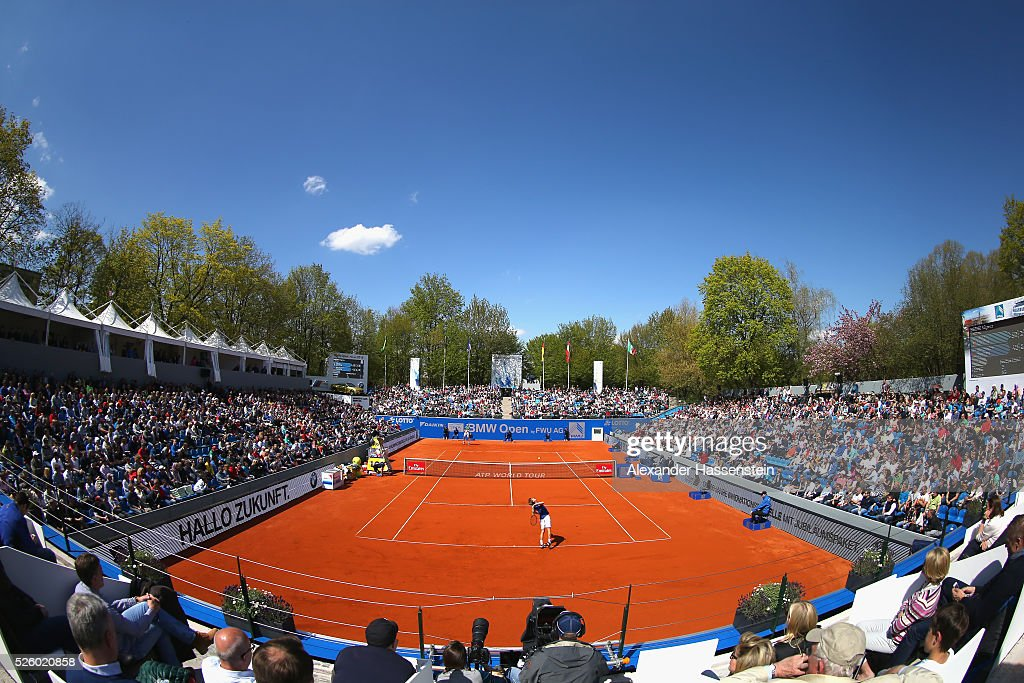 General view during the quarter finale match between <a gi-track='captionPersonalityLinkClicked' href=/galleries/search?phrase=Alexander+Zverev+-+Tennisspieler&family=editorial&specificpeople=11367343 ng-click='$event.stopPropagation()'>Alexander Zverev</a> of Germany and <a gi-track='captionPersonalityLinkClicked' href=/galleries/search?phrase=David+Goffin&family=editorial&specificpeople=2291768 ng-click='$event.stopPropagation()'>David Goffin</a> of Belgium of the BMW Open at Iphitos tennis club on April 29, 2016 in Munich, Germany.