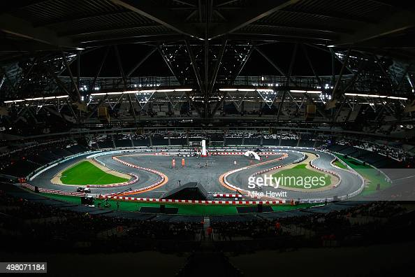 A general view during the Race of Champions at the Olympic Stadium on November 20 2015 in London England