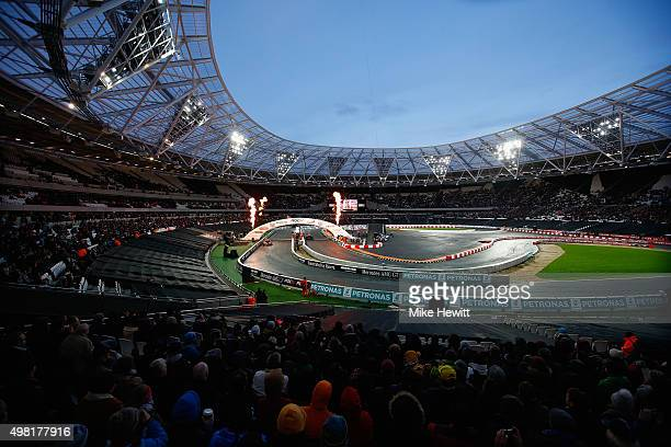 A general view during the Race of Champions at the Olympic Stadium on November 21 2015 in London England