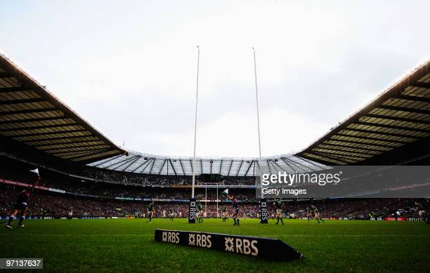 General view during the RBS Six Nations match between England and Ireland at Twickenham Stadium on February 27 2010 in London England