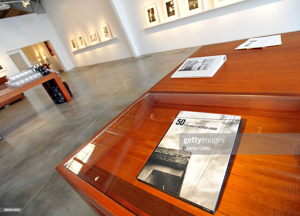 A general view during the reception of 'Jessica Lange: 50 Photographs 1992-2008' at The Rose Gallery on July 18, 2009 in Santa Monica, California.