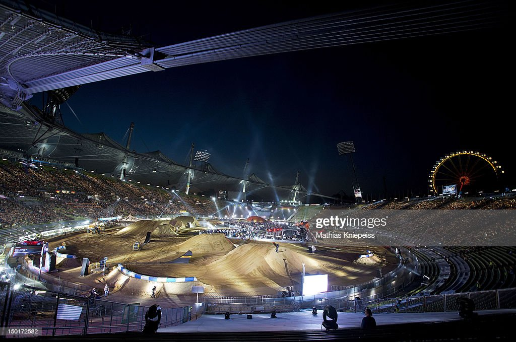 General view during the Red Bull X-Fighters World Tour at Olympia stadium on August 11, 2012 in Munich, Germany.