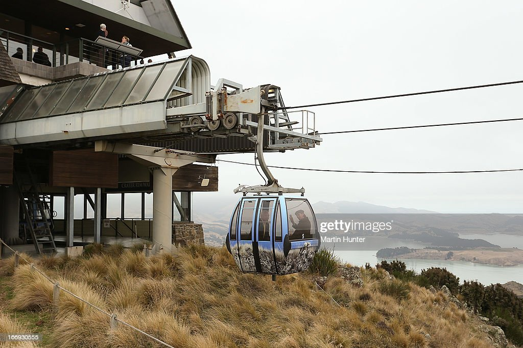 General view during the re-opening of the Christchurch gondola on April 19, 2013 in Christchurch, New Zealand. The gondola was closed following the 2011 Christchurch earthquakes and has since undergone reconstruction before the official re-opening today.