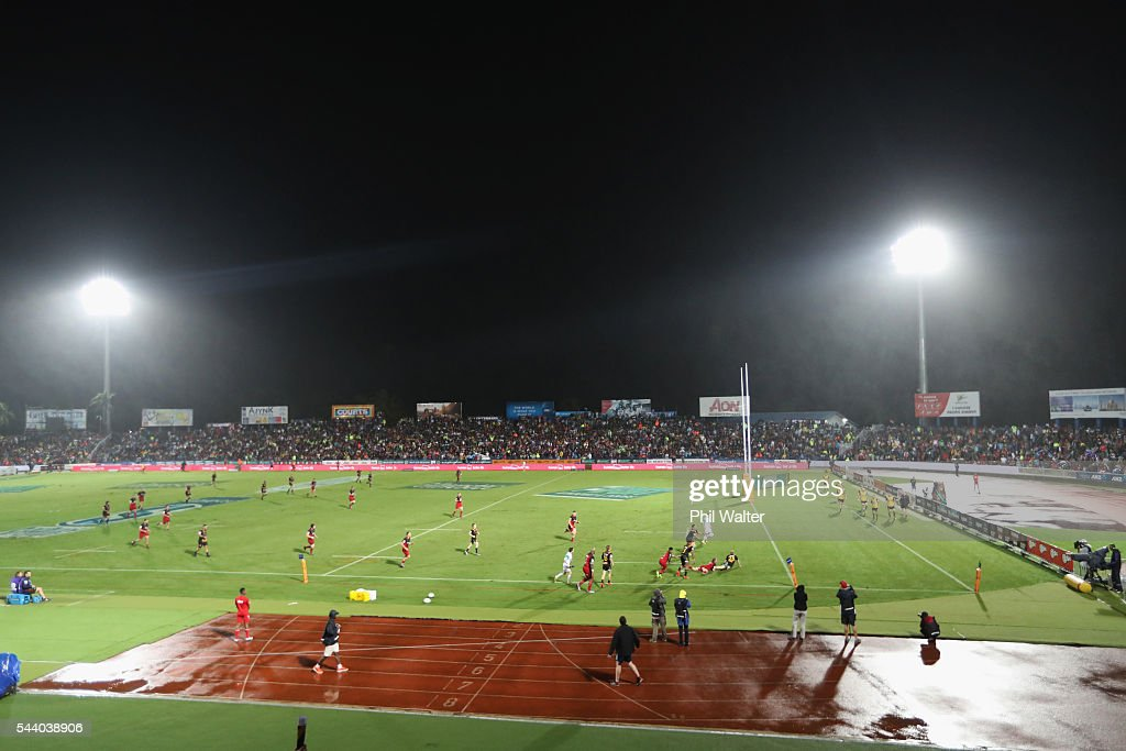 A general view during the round 15 Super Rugby match between the Chiefs and the Crusaders at ANZ Stadium on July 1, 2016 in Suva, Fiji.