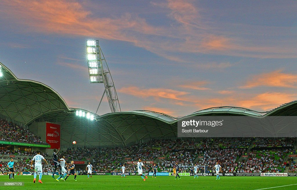 A general view during the round 19 A-League match between Melbourne City FC and Melbourne Victory at AAMI Park on February 13, 2016 in Melbourne, Australia.