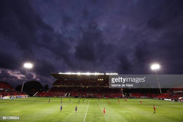 A general view during the round 25 ALeague match between Adelaide United and Perth Glory at Coopers Stadium on March 31 2017 in Adelaide Australia