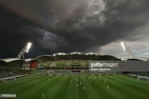 A general view during the round eight ALeague match between Melbourne City and Perth Glory at AAMI Park on November 24 2017 in Melbourne Australia
