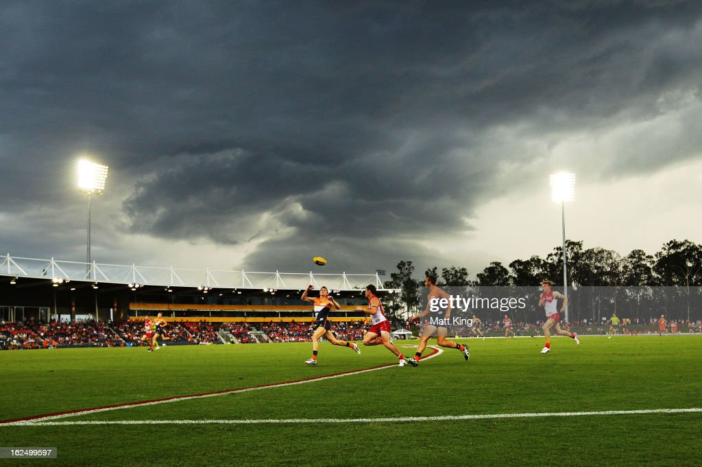 A general view during the round one AFL NAB Cup match between the Greater Western Sydney Giants and the Sydney Swans at Blacktown International Sportspark on February 24, 2013 in Sydney, Australia.