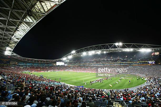 A general view during the round one ALeague match between the Western Sydney Wanderers and Sydney FC at ANZ Stadium on October 8 2016 in Sydney...