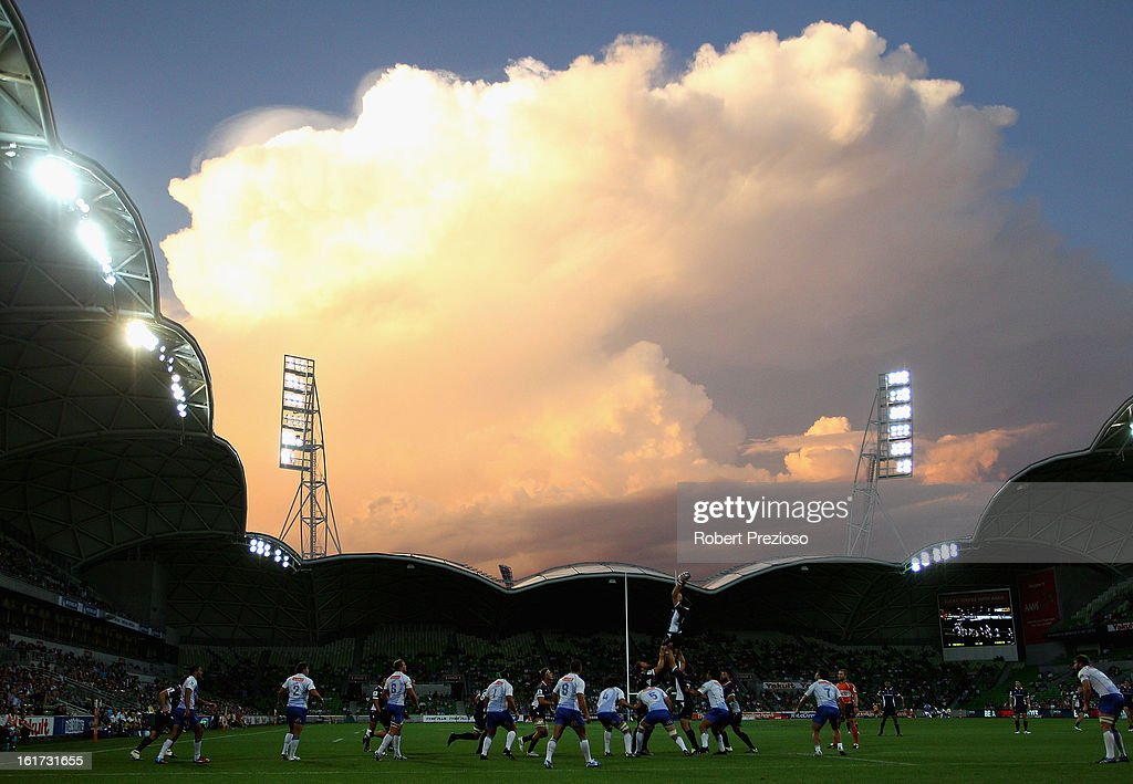 A general view during the round one Super Rugby match between the Rebels and the Force at AAMI Park on February 15, 2013 in Melbourne, Australia.