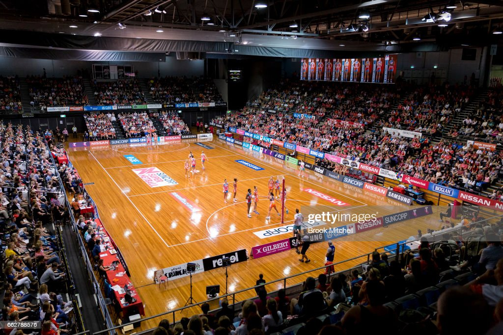 A General View During The Round Seven Super Netball Match Between Swifts And Giants
