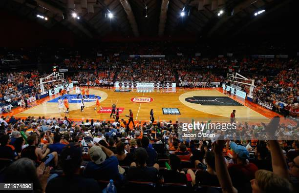 General view during the round six NBL match between the Cairns Taipans and Melbourne United at Cairns Convention Centre on November 9 2017 in Cairns...