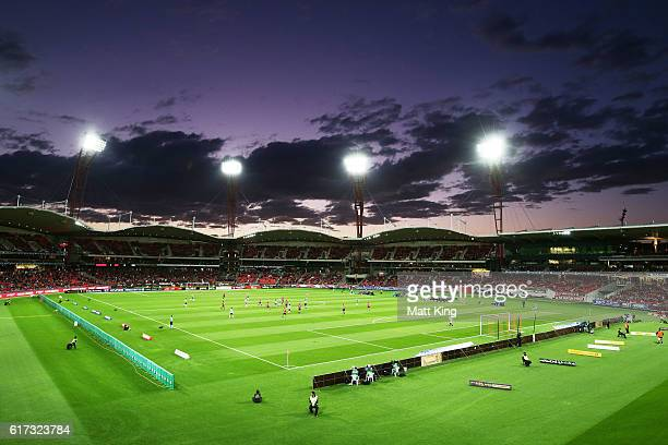 A general view during the round three ALeague match between the Western Sydney Wanderers and the Newcastle Jets at Spotless Stadium on October 23...