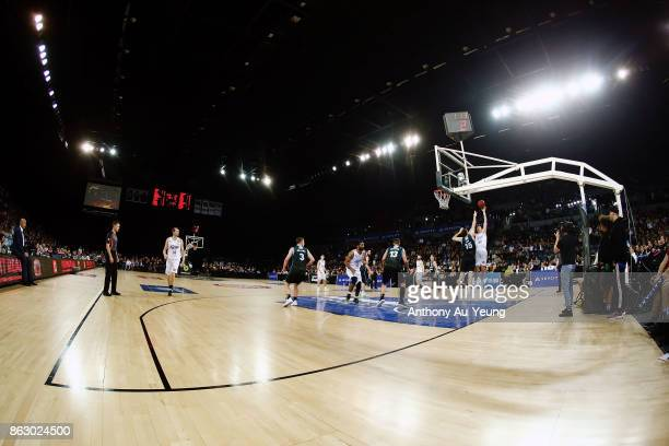 General view during the round three NBL match between the New Zealand Breakers and the Sydney Kings at Spark Arena on October 19 2017 in Auckland New...
