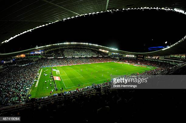 A general view during the round two ALeague match between Sydney FC and the Western Sydney Wanderers at Allianz Stadium on October 18 2014 in Sydney...