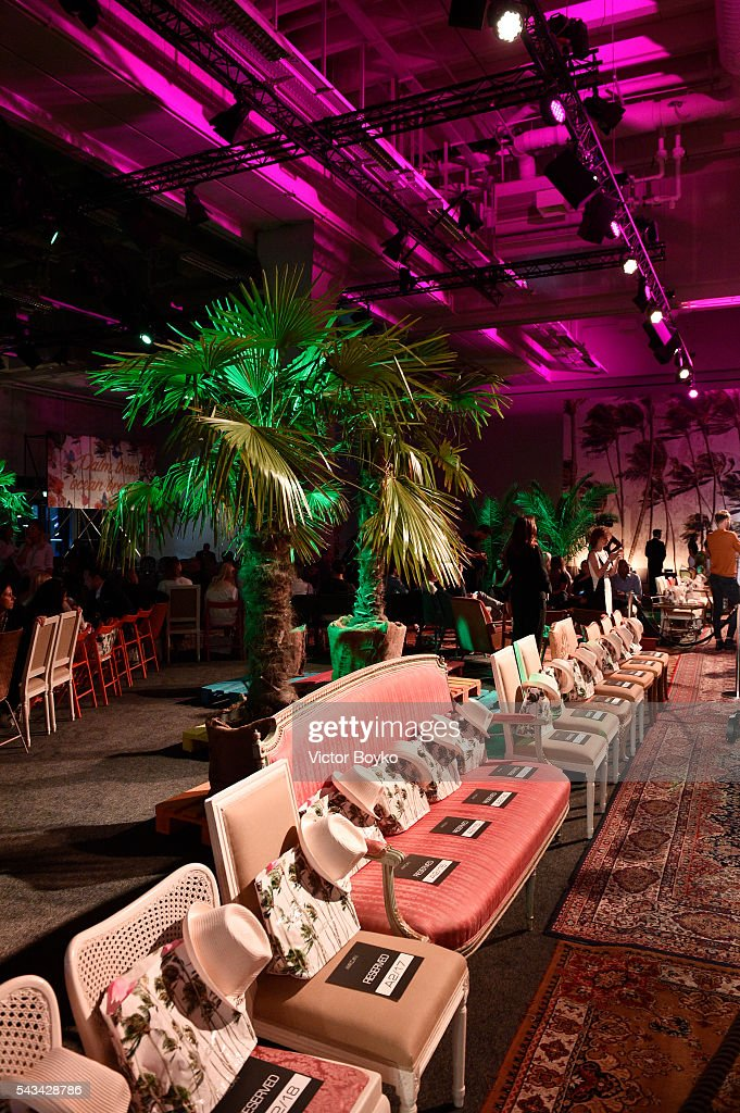 A general view during the runway at the Marc Cain fashion show spring/summer 2017 at CITY CUBE Panorama Bar on June 28, 2016 in Berlin, Germany.