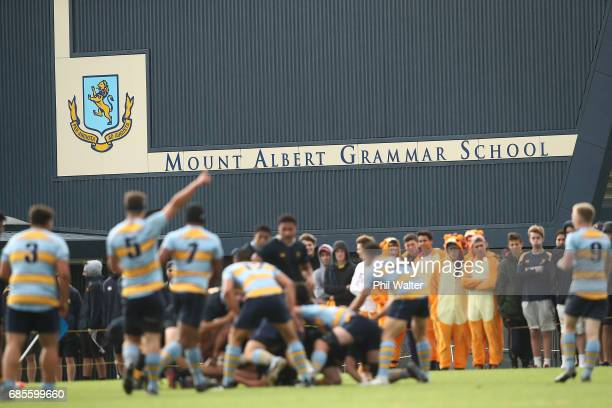A general view during the schoolboy First XV rugby match between Mt Albert Grammar and Auckland Grammar at Mt Albert Grammar School on May 20 2017 in...