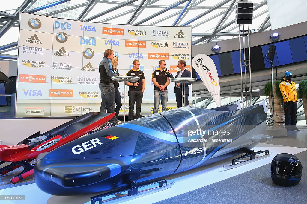 General view during the season opening press conference of the German Bobsleigh and Skeleton federation at BMW Welt on October 29, 2013 in Munich, Germany.