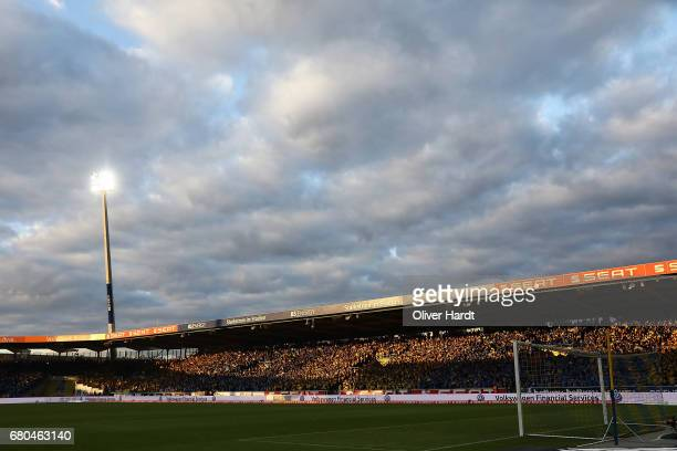 A general view during the Second Bundesliga match between Eintracht Braunschweig and 1 FC Union Berlin at Eintracht Stadion on May 8 2017 in...