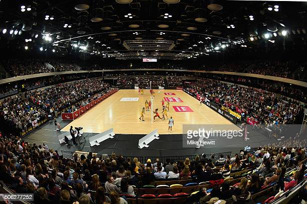 A general view during the second International Netball Series match between England and Australia at Copper Box Arena on January 22 2016 in London...