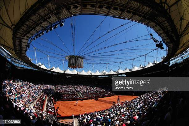 General view during the Semi Final match between Nicolas Almagro of Spain and Fabio Fognini of Italy during the International German Open at...
