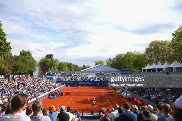 General view during the semin finale match between Guido Pella of Argentina and Hyeon Chung of Korea of the 102 BMW Open by FWU at Iphitos tennis...