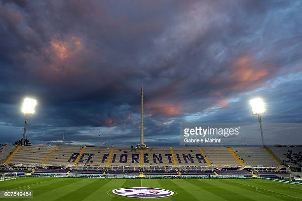 General view during the Serie A match between ACF Fiorentina and AS Roma at Stadio Artemio Franchi on September 18 2016 in Florence Italy