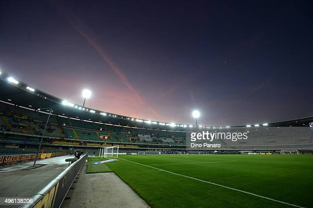 A general view during the Serie A match between Hellas Verona FC and Bologna FC at Stadio Marc'Antonio Bentegodi on November 7 2015 in Verona Italy