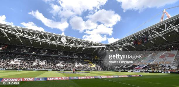 A general view during the Serie A match between Juventus and Cagliari Calcio at Juventus Arena on May 18 2014 in Turin Italy